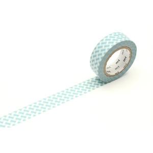 Taśma washi Making Tape - Heart Stamp Blue - 10 m