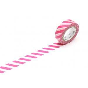 Taśma washi Making Tape - Stripe Salmon - 10 m
