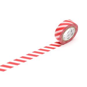 Taśma washi Making Tape - Stripe Magenta - 10 m