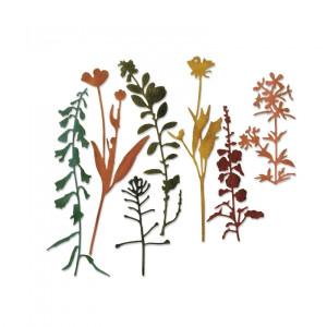 Sizzix Thinlits Die Set 21PK - Small Tattered Florals