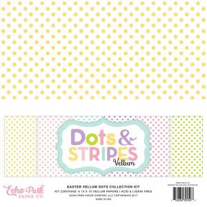 Zestaw papierów Echo Park - Dots & Stripes - Travel