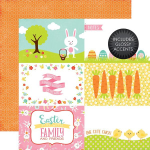 Papier Echo Park - Celebrate Easter - 3x4 Journaling Cards