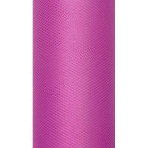 Tiul dekoracyjny 15 cm x 9 m różowy 006