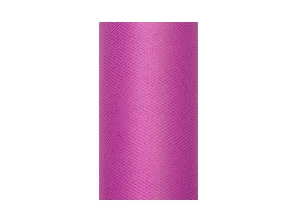 Tiul dekoracyjny 15 cm - różowy, 9 m