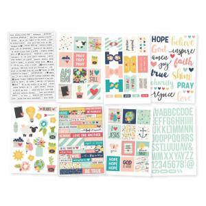 Zestaw naklejek Simple Stories - Carpe Diem - Illustrated Life - 8 ark.