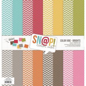 Zestaw papierów Simple Stories, Lights - SNAP Color Vibe Collection - 30x30 cm
