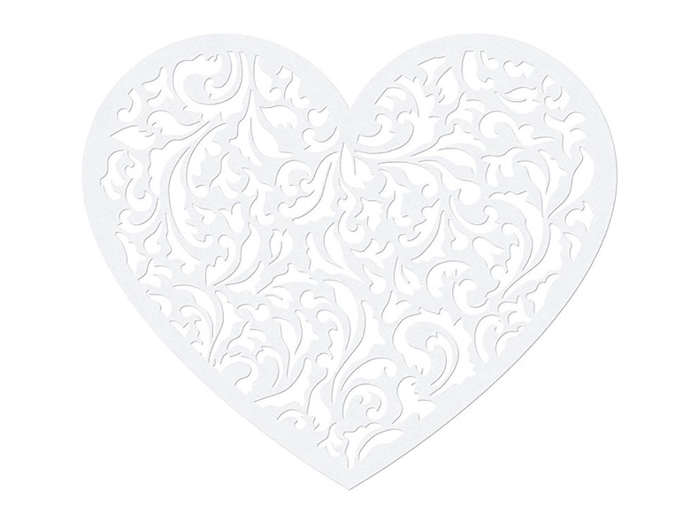 Paper Decorations Heart, 13.5 x 11.5cm, 10 pcs