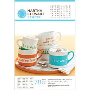 Szablony samoprzylepne 14,6 x 19,7 cm - Scrolls - Martha Stewart