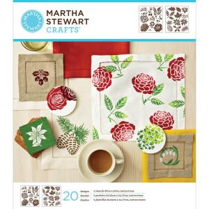 Szablony samoprzylepne 22,2 x 24,8 cm - Calligraphic Corners - Martha Stewart