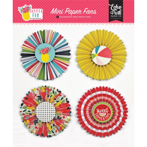 Papierowe wiatraczki Echo Park - Wedding Bliss - Mini Paper Fans
