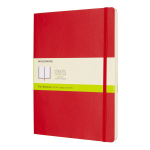 Notatnik Moleskine - Squared Red Soft XL