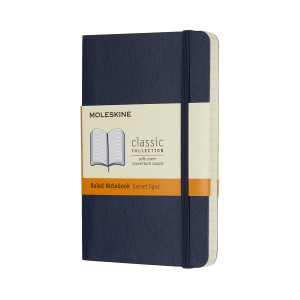 Notatnik Moleskine - Plain Sapphire Soft Pocket