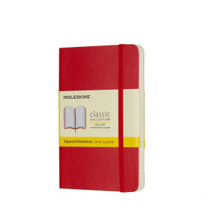 Notatnik Moleskine - Ruled Red Soft Pocket