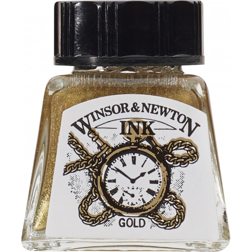 Tusz rysunkowy - Winsor & Newton - Gold, 14 ml