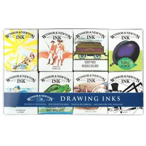 Zestaw tuszy rysunkowych Winsor & Newton - Henry, 8 szt.