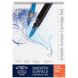 Blok Smooth Surface Cartridge Pad A2, 150g spirala - Winsor & Newton