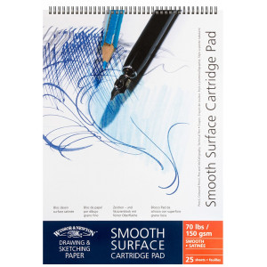 Smooth wire-o Surface Drawing Pad A2, 150g - Winsor & Newton