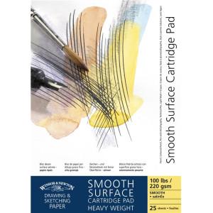 Blok Smooth Surface Cartridge Pad A2, 220g - Winsor & Newton