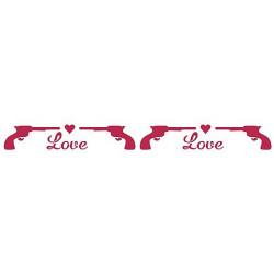 Szablon 60 x 7 cm - Stamperia - Love kill