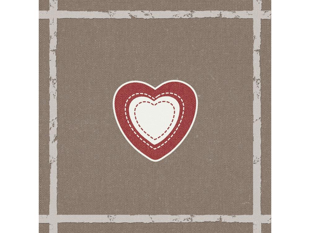 Decorative Napkins HEART ON CANVAS 20 pcs