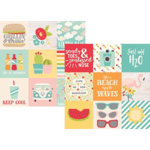 Papier Simple Stories - Summer Days - 3x4 Journaling Card