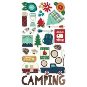 Simple Stories - Carpe Diem - Summer Days - Cardstock Stickers