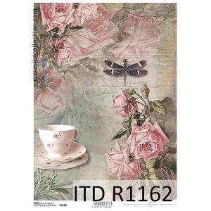 Papier ryżowy decoupage ITD R1163