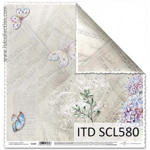 ITD decorative paper for scrapbooking - SCL579