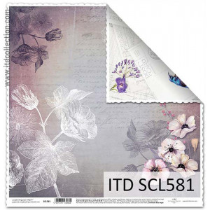 ITD decorative paper for scrapbooking - SCL580