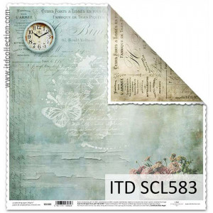 ITD decorative paper for scrapbooking - SCL582