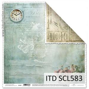 Papier ozdobny ITD do scrapbookingu  - SCL582