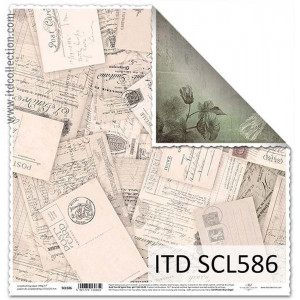ITD decorative paper for scrapbooking - SCL585
