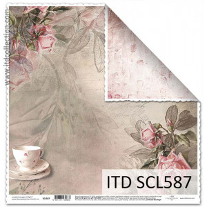 ITD decorative paper for scrapbooking - SCL586