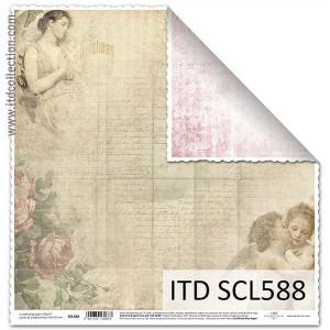 Papier ozdobny ITD do scrapbookingu  - SCL587