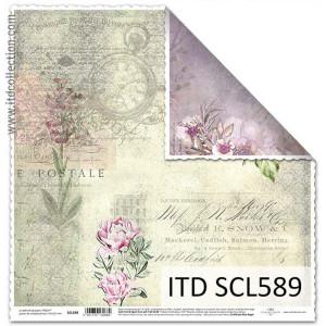 Papier ozdobny ITD do scrapbookingu  - SCL588