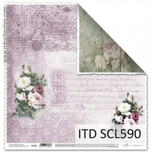 Papier ozdobny ITD do scrapbookingu  - SCL589