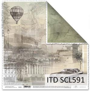 Papier ozdobny ITD do scrapbookingu  - SCL590