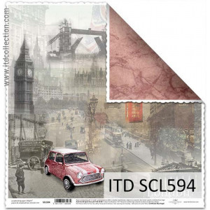 Papier ozdobny ITD do scrapbookingu  - SCL593