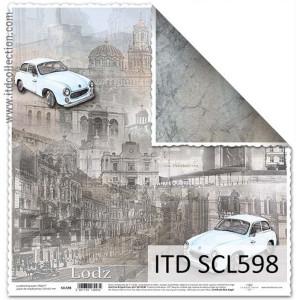 Papier ozdobny ITD do scrapbookingu  - SCL597