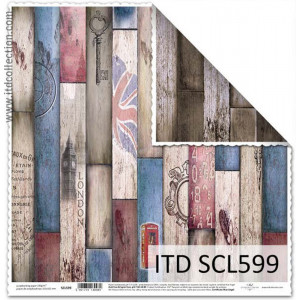 ITD decorative paper for scrapbooking - SCL598