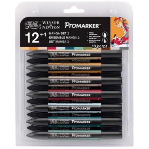 Promarker zestaw 12+1 sztuk Manga Chibi W&N