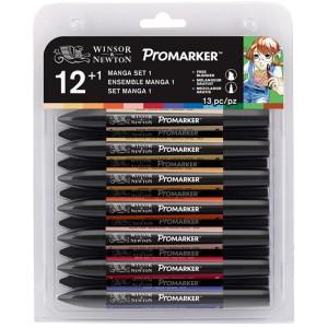 Promarker zestaw 12+1 sztuk Manga Set 1 W&N