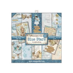 Zestaw papierów 30x30 Blue Stars - Stamperia