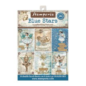 Zestaw papierów 11x16 Blue Stars - Stamperia