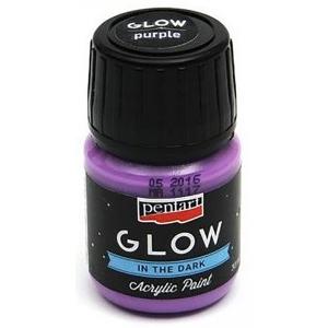 Farba Glow 30 ml Lila Pentart