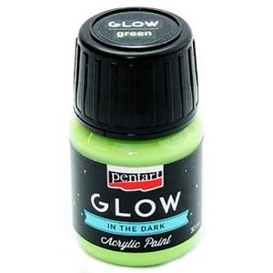 Farba akrylowa Glow Pentart 30 ml zielona