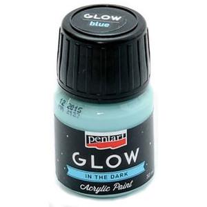 Farba akrylowa Glow Pentart 30 ml niebieska
