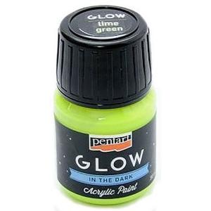 Farba akrylowa Glow Pentart 30 ml limonkowa