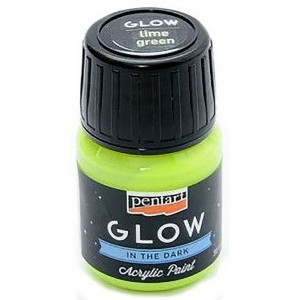 Glow acrylic paint PENTART 30 ml lime