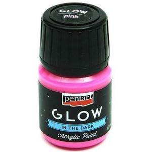 Farba akrylowa Glow Pentart 30 ml rózowa